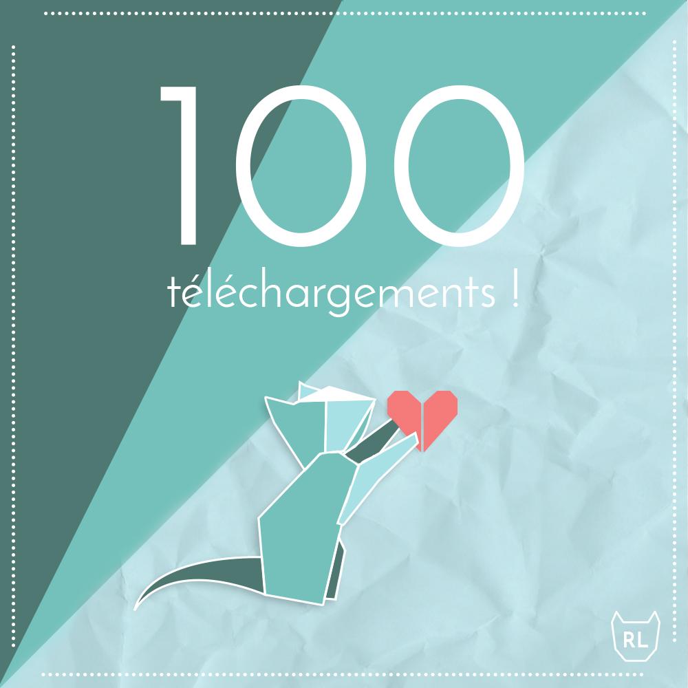 100 téléchargements